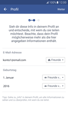 Samsung Galaxy S7 - Datenschutz und Sicherheit - Datenschutzeinstellungen von Facebook ändern - 13 / 35