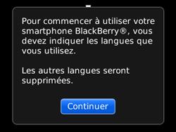 BlackBerry 8520 - Premiers pas - Créer un compte - Étape 4
