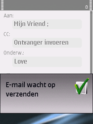 Nokia E75 - e-mail - hoe te versturen - stap 13
