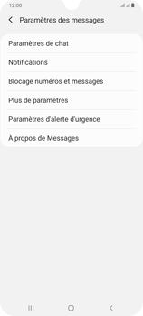 Samsung Galaxy A70 - SMS - configuration manuelle - Étape 7