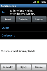 Samsung S5830i Galaxy Ace i - E-mail - Hoe te versturen - Stap 8