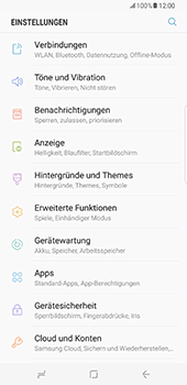 Samsung Galaxy S8 Plus - WiFi - WiFi-Konfiguration - Schritt 4