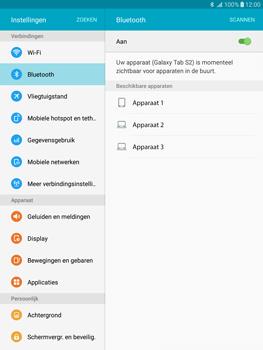 Samsung Galaxy Tab S2 9.7 (T815) - Bluetooth - Koppelen met ander apparaat - Stap 6