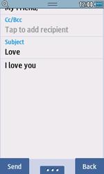 Samsung S5250 Wave 525 - E-mail - Sending emails - Step 8