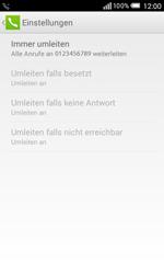 Alcatel Pop S3 - Anrufe - Rufumleitungen setzen und löschen - 2 / 2