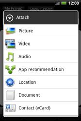 HTC A510e Wildfire S - E-mail - Sending emails - Step 10