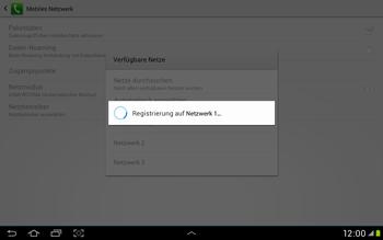 Samsung Galaxy Tab 2 10.1 - Netzwerk - Manuelle Netzwerkwahl - Schritt 11