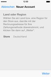 Apple iPhone 4 S mit iOS 7 - Apps - Konto anlegen und einrichten - Schritt 20