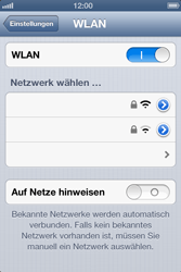 Apple iPhone 4S - WLAN - Manuelle Konfiguration - Schritt 5