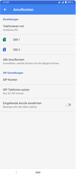 Sony Xperia 1 - Anrufe - Rufumleitungen setzen und löschen - Schritt 7