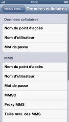 Apple iPhone 5 - Internet et roaming de données - Configuration manuelle - Étape 8
