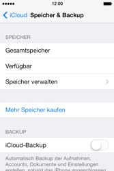 Apple iPhone 4S iOS 7 - Apps - Konfigurieren des Apple iCloud-Dienstes - Schritt 10