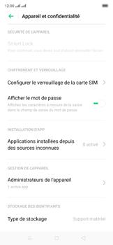 Oppo Reno 2Z - Sécuriser votre mobile - Personnaliser le code PIN de votre carte SIM - Étape 6
