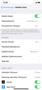 Apple iPhone XS - Netzwerk - Netzwerkeinstellungen ändern - Schritt 4