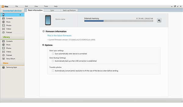 Samsung Galaxy S 5 - Software - How to make a backup of your device - Step 3