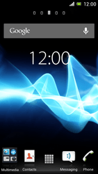 Sony Xperia J - Getting started - Installing widgets and applications on your start screen - Step 1