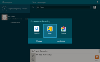 Samsung T805 Galaxy Tab S - MMS - Sending pictures - Step 15
