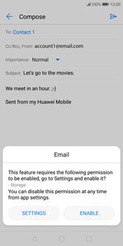 Huawei P Smart - E-mail - Sending emails - Step 12