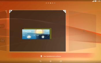 Sony Xperia Tablet Z2 LTE - Startanleitung - Installieren von Widgets und Apps auf der Startseite - Schritt 6