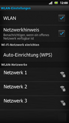 Sony Xperia Sola - WLAN - Manuelle Konfiguration - Schritt 7