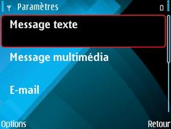 Nokia E71 - SMS - configuration manuelle - Étape 6