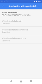 Sony Xperia XZ2 - Android Pie - Anrufe - Rufumleitungen setzen und löschen - Schritt 11
