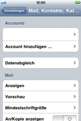 Apple iPhone 3G - E-Mail - Konto einrichten - Schritt 12