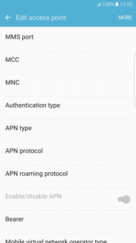 Samsung Samsung G928 Galaxy S6 Edge + (Android M) - MMS - Manual configuration - Step 13