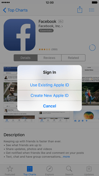 Apple iPhone 6 Plus iOS 9 - Applications - Setting up the application store - Step 8