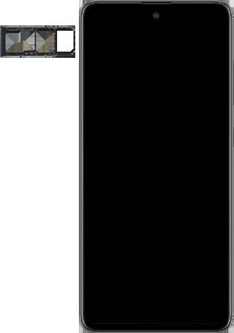 Samsung galaxy-a51-sm-a515f - Instellingen aanpassen - SIM-Kaart plaatsen - Stap 3