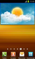 Samsung Galaxy S II - Startanleitung - Installieren von Widgets und Apps auf der Startseite - Schritt 6