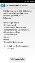 Alcatel One Touch Idol Mini - Gerät - Zurücksetzen auf die Werkseinstellungen - Schritt 7