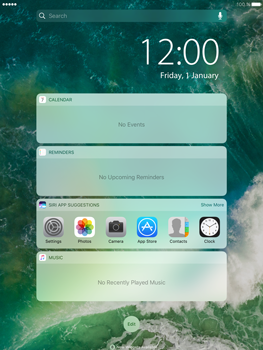 Apple iPad Mini 3 iOS 10 - iOS features - Lock screen feature - Step 3