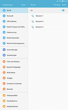 Samsung Galaxy Tab A 10-1 - WLAN - Manuelle Konfiguration - Schritt 5