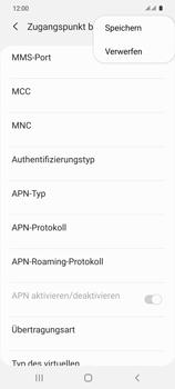 Samsung Galaxy S20 5G - MMS - Manuelle Konfiguration - Schritt 15
