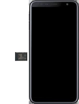 Samsung Galaxy J6 Plus - Premiers pas - Insérer la carte SIM - Étape 3