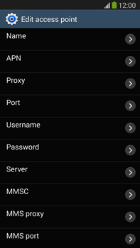 Samsung Galaxy Note III LTE - MMS - Manual configuration - Step 9