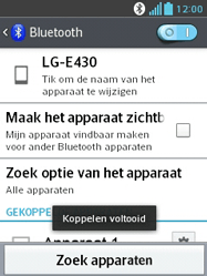 LG E430 Optimus L3 II - Bluetooth - Koppelen met ander apparaat - Stap 9