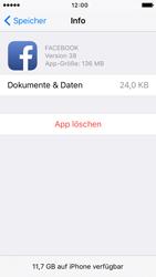 Apple iPhone 5c iOS 9 - Apps - Eine App deinstallieren - Schritt 7
