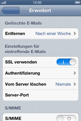 Apple iPhone 4 - E-Mail - Manuelle Konfiguration - Schritt 17
