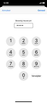 Apple iPhone X - iOS 13 - Beveiliging - Stel de pincode voor je simkaart in - Stap 11
