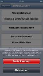 Apple iPhone 5 - Fehlerbehebung - Handy zurücksetzen - Schritt 9