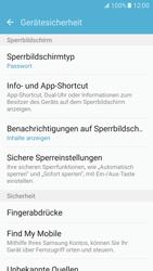 Samsung Galaxy S7 - Datenschutz und Sicherheit - Zugangscode einrichten - 13 / 15