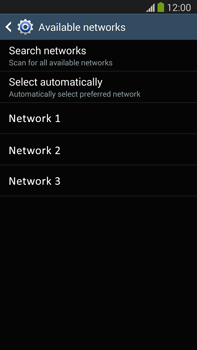 Samsung Galaxy Note III LTE - Network - Manual network selection - Step 8