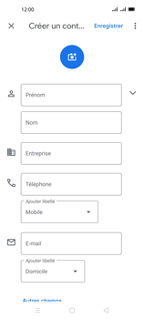 Oppo A72 - Contact, Appels, SMS/MMS - Ajouter un contact - Étape 6