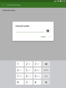 Samsung Galaxy Tab A 9.7 - Voicemail - Manual configuration - Step 8