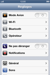 Apple iPhone 4 S - iOS 6 - Internet - activer ou désactiver - Étape 3