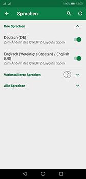 Huawei P20 - Android Pie - Startanleitung - So fügen Sie eine Tastatursprache hinzu - Schritt 8