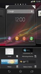 Sony Xperia Z - Operazioni iniziali - Installazione di widget e applicazioni nella schermata iniziale - Fase 4