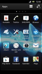 Sony Xperia U - Apps - Einrichten des App Stores - Schritt 3